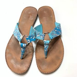 Lilly Pulitzer sandals sz 7M